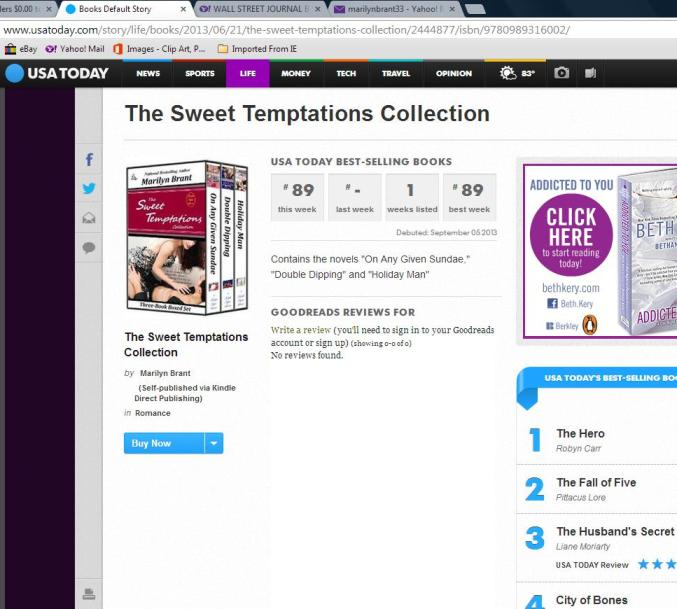 USA Today Bestseller #89 - Sweet Temptations